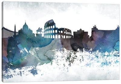 Rome Bluish Skylines Canvas Art Print