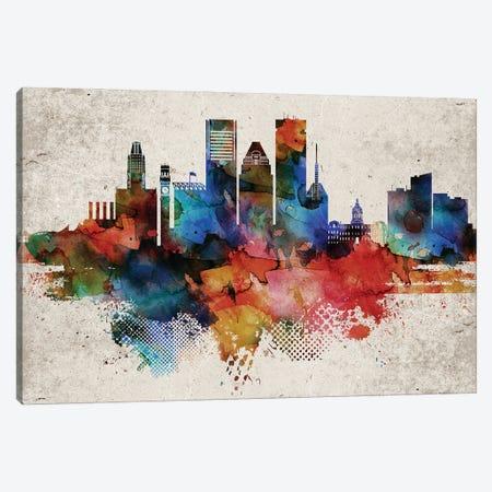 Baltimore Abstract Canvas Print #WDA41} by WallDecorAddict Canvas Art Print