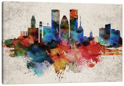 Baltimore Abstract Canvas Art Print