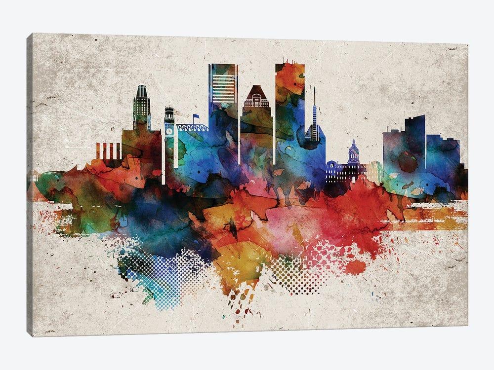 Baltimore Abstract by WallDecorAddict 1-piece Canvas Art