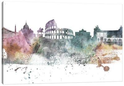Rome Pastel Skylines Canvas Art Print