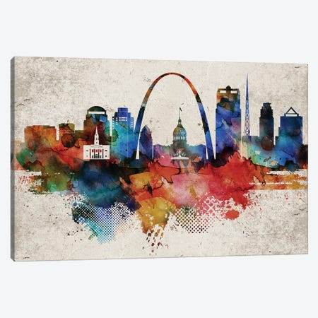 Saint Louis Abstract Canvas Print #WDA421} by WallDecorAddict Art Print