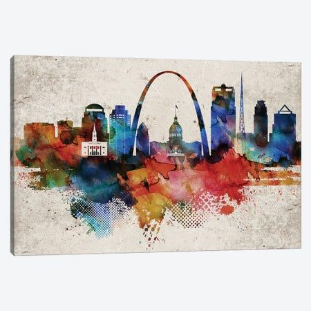Saint Louis Abstract Canvas Print #WDA421} by WallDecorAddict Art Print