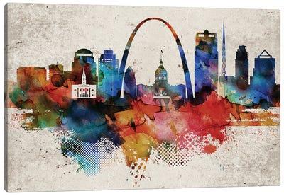 Saint Louis Abstract Canvas Art Print