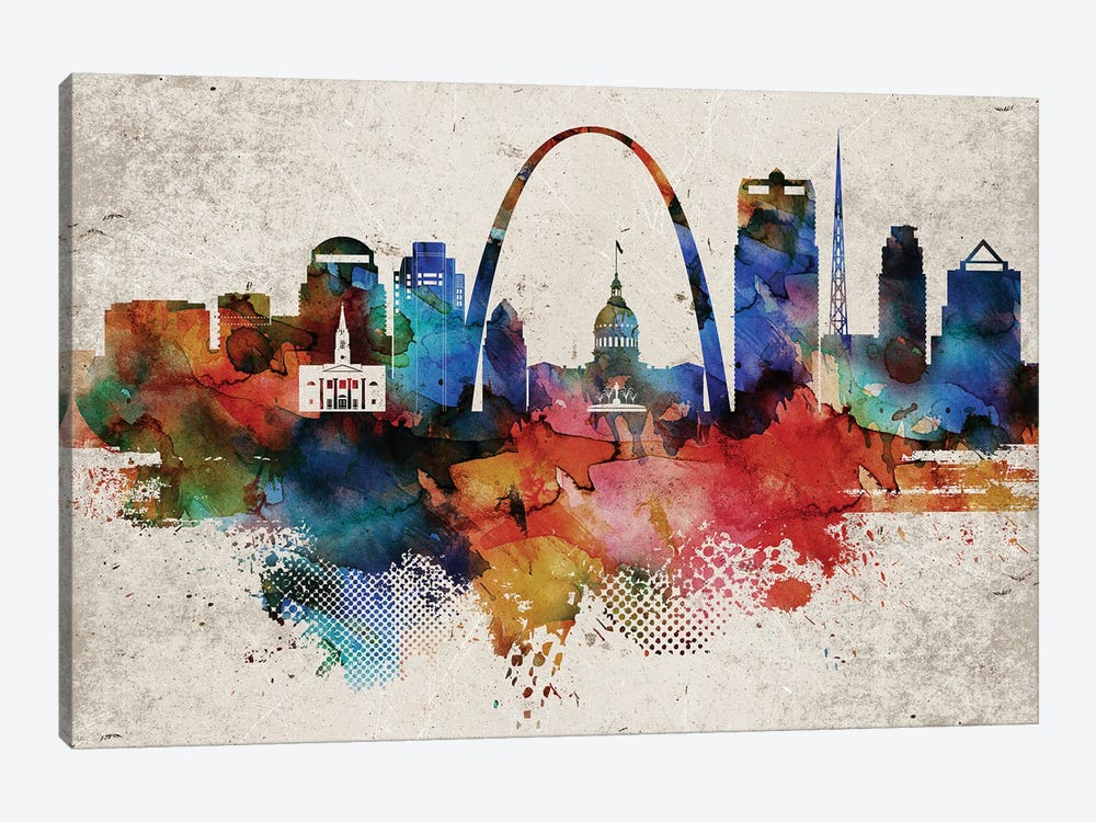 Saint Louis Abstract by WallDecorAddict 1-piece Canvas Art Print