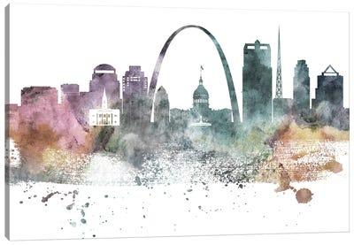 Saint Louis Pastel Skylines Canvas Art Print