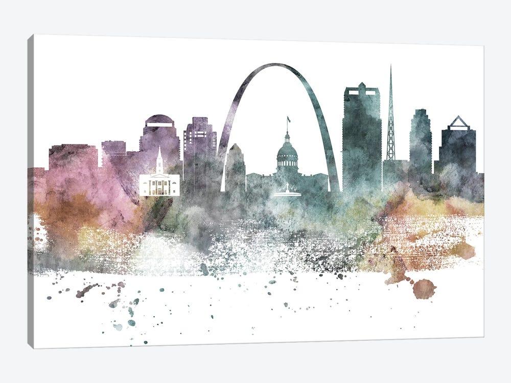 Saint Louis Pastel Skylines by WallDecorAddict 1-piece Canvas Print