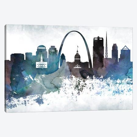 Saint Louis Bluish Skylines Canvas Print #WDA424} by WallDecorAddict Canvas Artwork