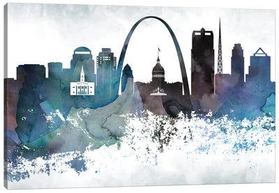 Saint Louis Bluish Skylines Canvas Art Print