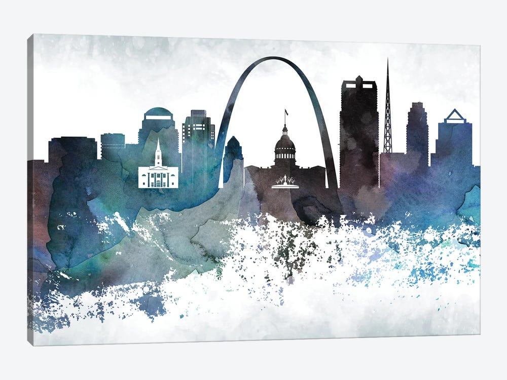 Saint Louis Bluish Skylines by WallDecorAddict 1-piece Canvas Artwork
