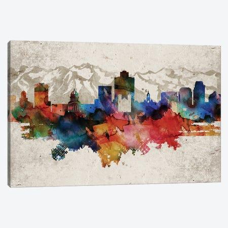 Salt Lake City Abstract Canvas Print #WDA425} by WallDecorAddict Canvas Art