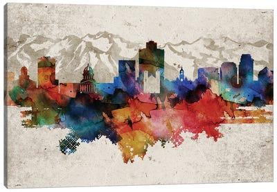 Salt Lake City Abstract Canvas Art Print