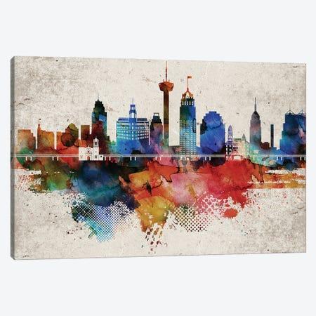 San Antonio Abstract Canvas Print #WDA429} by WallDecorAddict Canvas Art Print