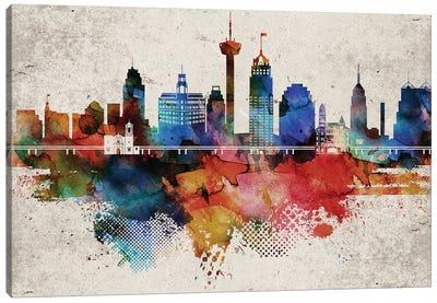 San Antonio Abstract Canvas Art Print
