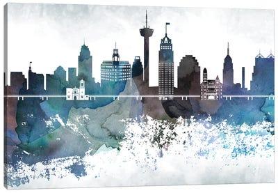 San Antonio Bluish Skylines Canvas Art Print