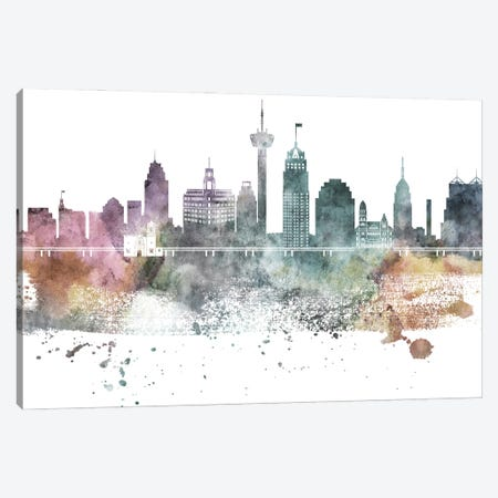 San Antonio Pastel Skylines Canvas Print #WDA432} by WallDecorAddict Canvas Wall Art
