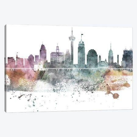 San Antonio Pastel Skylines Canvas Print #WDA432} by WallDecorAddict Canvas Wall Art