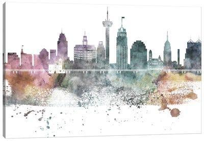 San Antonio Pastel Skylines Canvas Art Print