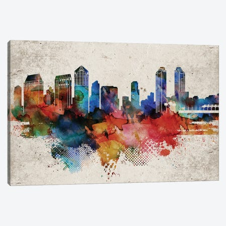 San Diego Abstract Canvas Print #WDA433} by WallDecorAddict Canvas Wall Art