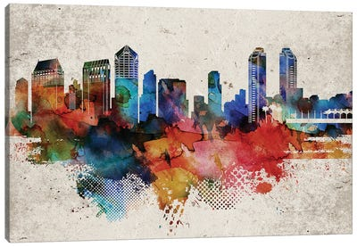 San Diego Abstract Canvas Art Print