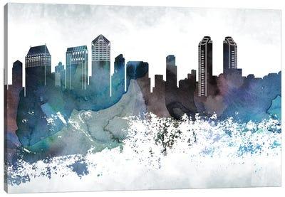 San Diego Bluish Skylines Canvas Art Print
