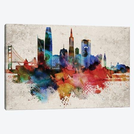 San Francisco Abstract Canvas Print #WDA438} by WallDecorAddict Canvas Art