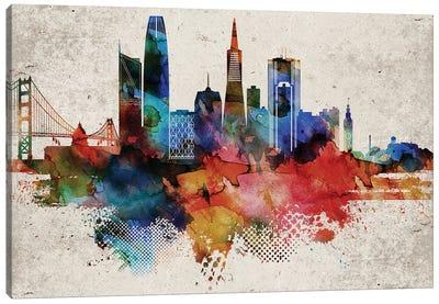 San Francisco Abstract Canvas Art Print