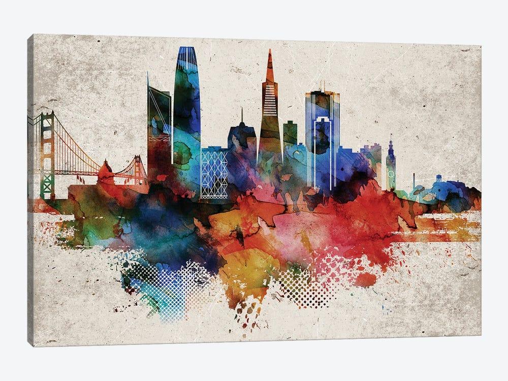 San Francisco Abstract by WallDecorAddict 1-piece Canvas Print