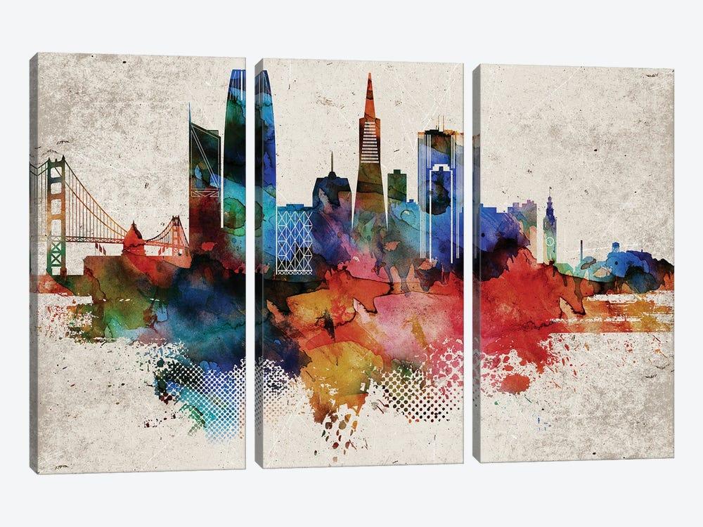 San Francisco Abstract by WallDecorAddict 3-piece Art Print