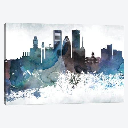 Baltimore Bluish Skylines Canvas Print #WDA43} by WallDecorAddict Canvas Print