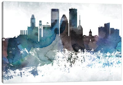 Baltimore Bluish Skylines Canvas Art Print