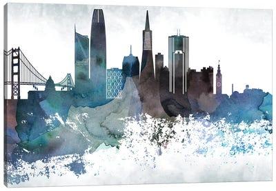 San Francisco Bluish Skylines Canvas Art Print