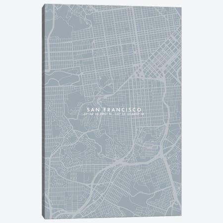 San Francisco City Map Simple Color Canvas Print #WDA443} by WallDecorAddict Art Print