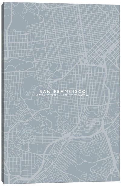 San Francisco City Map Simple Color Canvas Art Print