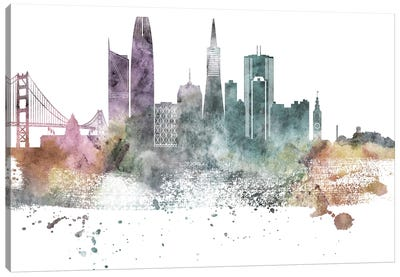 San Francisco Pastel Skylines Canvas Art Print