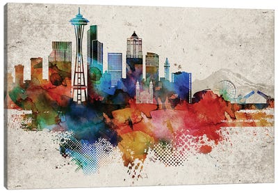 Seattle Abstract Canvas Art Print