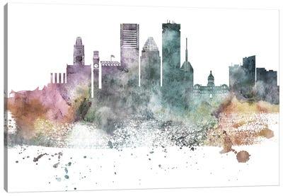 Baltimore Pastel Skylines Canvas Art Print