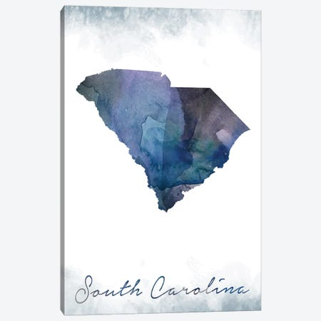South Carolina State Bluish 3-Piece Canvas #WDA451} by WallDecorAddict Canvas Wall Art