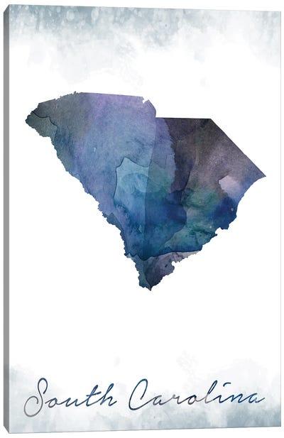 South Carolina State Bluish Canvas Art Print