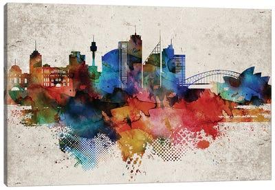 Sydney Abstract Canvas Art Print