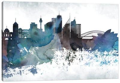 Sydney Bluish Skylines Canvas Art Print