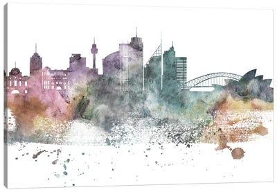 Sydney Pastel Skylines Canvas Art Print