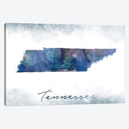 Tennessee State Bluish Canvas Print #WDA467} by WallDecorAddict Canvas Art