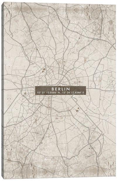 Berlin City Map Abstract Canvas Art Print
