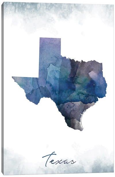 Texas State Bluish Canvas Art Print