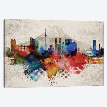 Tokyo Abstract Canvas Print #WDA476} by WallDecorAddict Canvas Print