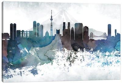 Tokyo Bluish Skylines Canvas Art Print