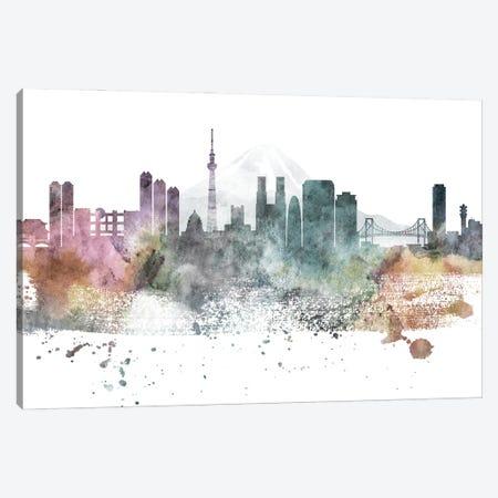 Tokyo Pastel Skylines Canvas Print #WDA478} by WallDecorAddict Canvas Artwork