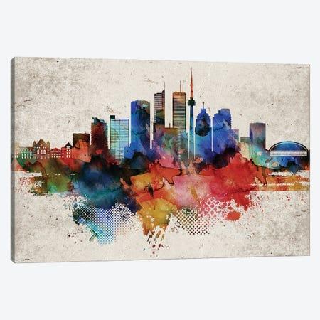 Toronto Abstract Canvas Print #WDA479} by WallDecorAddict Canvas Artwork