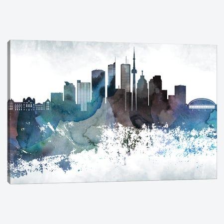 Toronto Bluish Skylines Canvas Print #WDA481} by WallDecorAddict Canvas Print